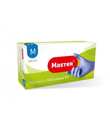 RĘKAWICE NITRYLOWE DIAGNOSTYCZNE BEZPUDROWE M MASTER S402